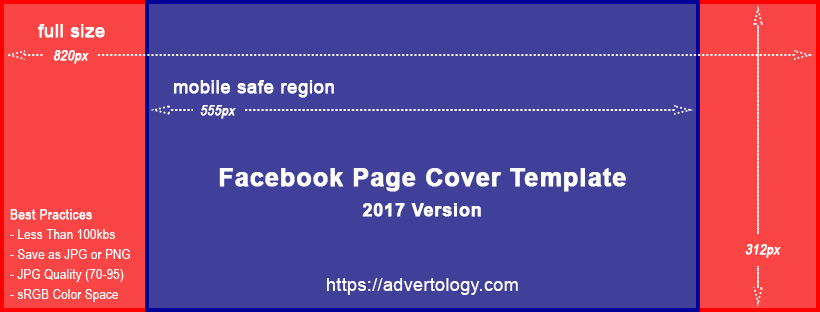 facebook page cover template advertology