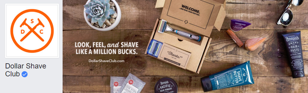dollar-shave-club facebook page cover