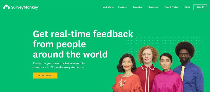 survey monkey audience surveys home page